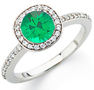 Beautiful 1 carat plus GEM Grade Natural Columbian 6.00mm Emerald set in Timeless Diamond Ring for SALE