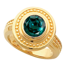 Unique Etruscan Style Bezel Ring with Natural 0.55 carat Brazilian GEM Grade 4.80 mm Alexandrite Fashion Gold Ring