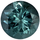 Hard to Find Tourmaline Loose Gem in Round Cut, Rich Teal Blue, 8.4 mm, 2.18 carats