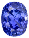 Excellent Medium Rich Blue Unheated Sapphire Gem - Great Shape & Outline, with AGL Certificate, Cushion Cut, 2.54  carats