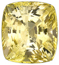 Impressive GEM Unheated Bright Yellow Sapphire Genuine Gem with GRS Cert for SALE, Cushion Cut, 20.37 carats