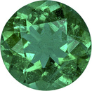 Hard to Find Emerald Loose Gem in Round Cut in Rich Green Color , 6.0 mm, 0.74 carats