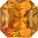Bargain Priced Golden Yellow Sapphire in Radiant Cut, Golden Yellow, 8.5 mm, 3.95 Carats