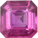 Stunning Huge Asscher Cut Pink Sapphire Loose Gemstone in Vivid Pink, 11.87 x 11.83 mm, 8.76 Carats - With GIA Certificate