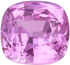 Deal on GIA Certified Pink Sapphire Loose Gemstone in Cushion Cut, Medium Bright Pink Color in 8.37 x 7.84 mm, 3.18 Carats - With GIA Certificate