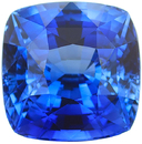 4 carat Loose Blue Sapphire Loose Gemstone in Cushion Cut, Cornflower Blue Color in 8.47 x 8.41 mm, 4.07 Carats - With CDC Certificate