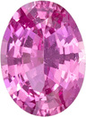 Stunning Pink No Heat GIA Sapphire Loose Gem in Oval Cut, Rich Pure Pink, 7.4 x 5.5 x 3.35 mm, 1.11 carats - With GIA Certificate