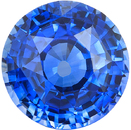 Certified Bright Blue Round Cut Sapphire Natural Gem, Rich Bright Pure Blue Color in 9.73 x 9.87 mm, 4.89 Carats - With CDC Certificate