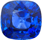 Deal on Ceylon Fine Blue Sapphire Cushion Cut Loose Gemstone, Pure Cornflower Blue Color in Large 10.8 mm, 8.01 Carats - With GRS Certificate