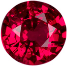 Fiery Round Ruby Loose Genuine Stone in Vivid Rich Red Color, 4.1 mm, 0.33 carats