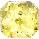 Great Buy on GIA No Heat Yellow Sapphire Precious Gem in Radiant Cut, Vivid Medium Yellow Color in 6.9 x 6.8 mm, 2.09 carats - GIA Certified