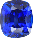 Hard to Find Royal Blue Sapphire Cushion Cut Gemstone in Royal Vivid Blue Color in 8.22 x 7.06 mm, 3.07 Carats - With CDC Certificate