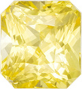 Lively Untreated Sapphire Radiant Cut Gemstone in Pure Yellow Color, 6.95 x 6.4 x 5.03 mm, 2.21 carats - With GIA Certificate