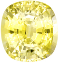 No Heat Yellow Sapphire Awesome Gem in Cushion Cut, Pure Yellow Color in 8.57 x 7.96mm, 3.07 carats - With GIA Certificate