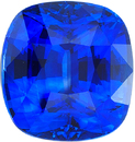 Special GRS Certified Blue Sapphire Loose Gemstone in Vivid Royal Blue Color, 8.49 x 7.96 mm, 3.60 Carats - With GRS Certificate