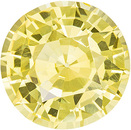 Special Yellow 10mm Round Unheated Sapphire in Pure Yellow Color, 4.32 carats - With GIA Certificate