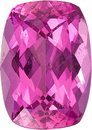 Calibrated Size Pink Tourmaline Gem in Cushion Cut, Bubble Gum Pink Color, 7.1 x 5.1 mm, 0.88 carats
