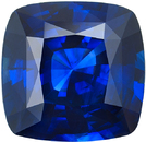 Unique Blue Sapphire 9 Carat Loose Cushion Gem in Rich Blue Color in 15.53 x 12.41 mm, 9.22 Carats - With GRS Certificate