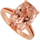 Pink and Feminine! Genuine Large 7.2ct 14x10mm GEM Genuine Morganite Cocktail Ring in 14kt Rose Gold - SOLD