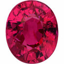 Superb  Unheated Ruby Loose Gem in Oval Cut, Medium Purple Red, 6.95 x 5.74  mm, 1.54 Carats