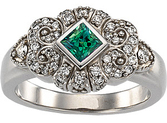 Rare Large Princess Cut Natural Alexandrite GEM Grade set in White Gold Pave Diamond Ring - SOLD