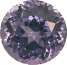 Superb Large Lavender Spinel, Nice Size in Fine German Round Cut, 9 mm, 3.58 carats