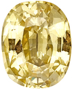 Very Bright - Clean Unheated Yellow Sapphire Genuine Gemstone for SALE, Antique Cushion Cut, 5.26 carats