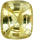 No Heat Bright Yellow Sapphire Natural Gemstone, AGTA Cert, Antique Cushion Cut,  6.45 carats