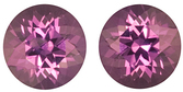 Magnificent Pair of Natural Pinkish-Purple Sapphire Gemstones for SALE, Round Cut, 1.70 carats