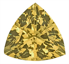 Exceptionally Bright Stone! Fantastic Unheated Yellow Green Grossular Garnet Gem, Trillion Cut, 9.5 x 9.5 mm, 3.28 carats