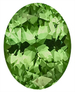 Bright Beautiful Mint Green Tone, Nice Saturation, Unheated Grossular Garnet Gemstone, Oval Cut, 10.6 x 8.3 mm, 3.57 carats