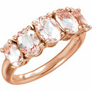 14KT Rose Gold Morganite Ring