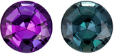 Very Beautiful Alexandrite Loose Gem in Round Cut, 100% Change from Burgundy to Teal Blue Green, 4 mm, 0.32 carats