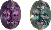Great Price on Loose Alexandrite Gem in Oval Cut, Medium Blue Green to Burgundy, 6.3 x 4.6 mm, 0.72 carats
