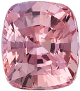 Certified Padparadscha Sapphire Loose Stone in Cushion Cut, Orangy Pink Color in 7.02 x 6.22 mm, 2.10 Carats - With GRS Certificate