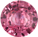 Orangy Pink Certified Padparadscha Round Cut Sapphire Loose Gemstone in Medium Orangy Pink Color, 7.51 x 7.58 mm, 1.92 Carats - With CDC Certificate