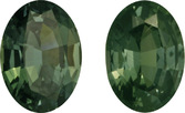 Stunning Rich Green Sapphires in Matched Gemstone Pair in Oval Cut, Rich Green Color in 8.8 x 6.3 mm, 3.75 carats