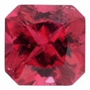Very Fine Tourmaline Loose Gem in Modified Square Cut, Light Purple Red, 6.56 x 6.54  mm, 1.38 Carats
