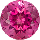 Vibrant Pink Tourmaline Natural Gemstone in Round Cut from Nigeria in 7.9 mm, 2.3 Carats