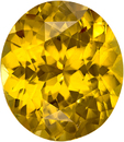 Amber Yellow Zircon from Madagascar Gem in Oval Cut, 13.5 x 11.7 mm, 10.01 Carats