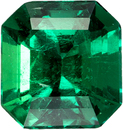 Fiery Emerald Natural Gemstone from Coulmbia in Square Cut, 6.5 x 6.2 mm, 1.03 Carats