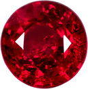 Vibrant Open Red Ruby Loose African Gem in Round Cut, 5.4 mm, 0.83 Carats