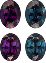 Brazilian Teal Blue to Eggplant Alexandrites in Well Matched Pair in Oval Cut, 6.7 x 5.1 mm, 1.82 Carats - With Gubelin Certificate