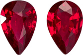 Deal on Fiery Red Burma Ruby in Well Matched Pair in Pear Cut, 6.0 x 4.0 mm, 0.95 Carats