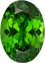 Vibrant Pure Green Tourmaline Loose African Gem in Oval Cut, 7.7 x 5.6 mm, 1.1 Carats