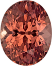 Vibrant Sherry Garnet Loose African Gem in Oval Cut, 11 x 8.8 mm, 5.59 Carats