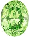 Fiery Green Grossular Garnet in Oval Cut, Neon Mint Green, 10.1 x 7.8 mm, 3.54 carats at AfricaGems