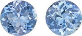 Vibrant Blue Aquamarine from Mozambique Gem in Round Cut, 5.9 mm, 1.26 Carats