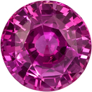 No Heat  Vibrant Pink Ceylon Sapphire Loose Gem in Round Cut, 6.2 x 6.3 mm, 1.23 Carats - With GIA Certficate