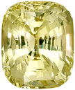 Fine Clarity and Brilliance, Unheated AGTA Cert Yellow Sapphire Natural Gemstone, Antique Cushion Cut, 13.48 carats